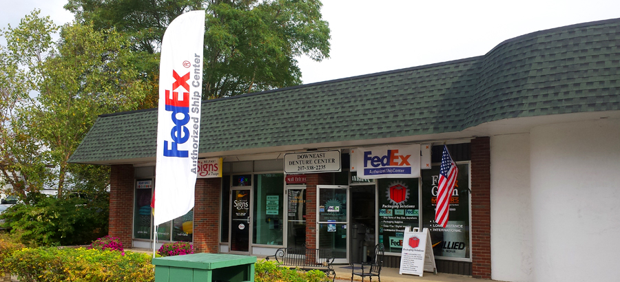Packaging Solutions in Belfast Maine - a FedEx shipping center.